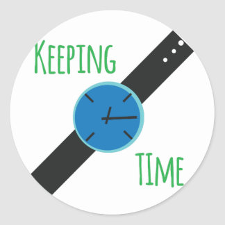 Keeping Time Classic Round Sticker
