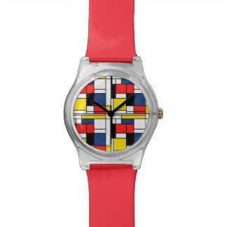 Keeping Time with Mondrian Wrist Watch
