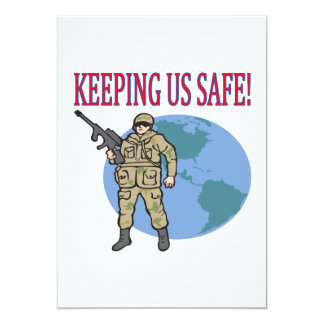 Keeping Us Safe 5x7 Paper Invitation Card