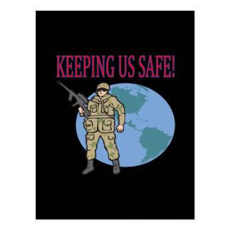 Keeping Us Safe Postcard