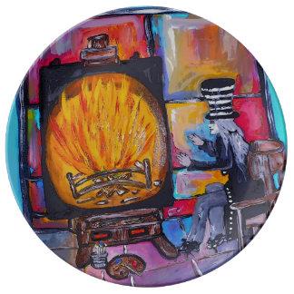 "Keeping Warm 10.75"" Decorative Porcelain Plate"
