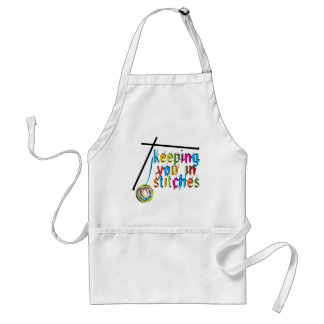 keeping you in stitches-knit adult apron