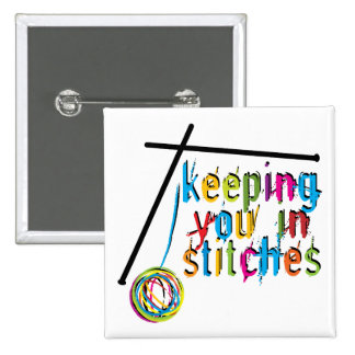 keeping you in stitches-knit pinback button