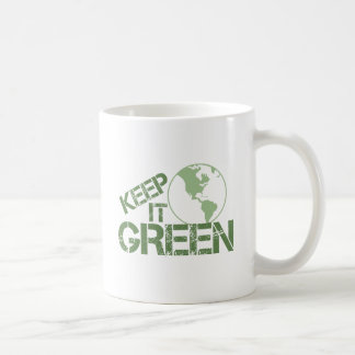 keepitgreen classic white coffee mug