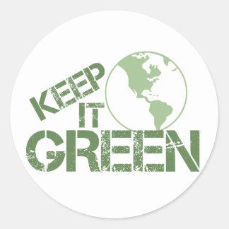 keepitgreen classic round sticker