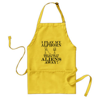 Keeps Aliens Away Alphorn Adult Apron