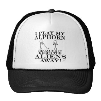 Keeps Aliens Away Alphorn Trucker Hat