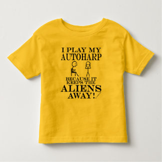 Keeps Aliens Away Autoharp Toddler T-shirt