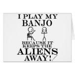 Keeps Aliens Away Banjo Card