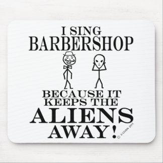 Keeps Aliens Away Barbershop Mouse Pad