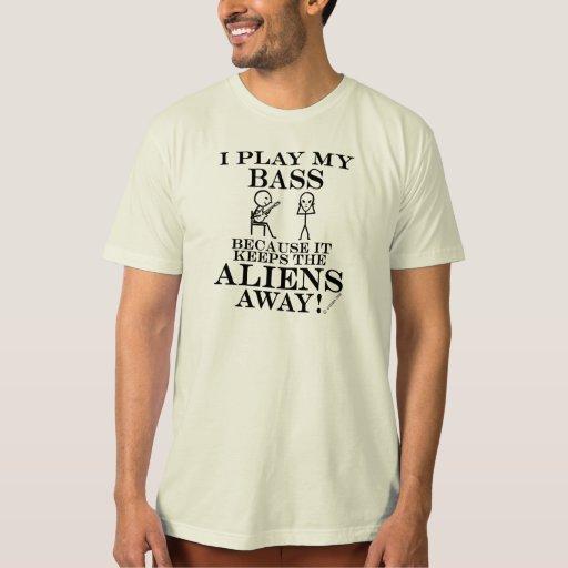 Keeps Aliens Away Bass T Shirts