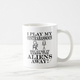 Keeps Aliens Away Contrabassoon Coffee Mug