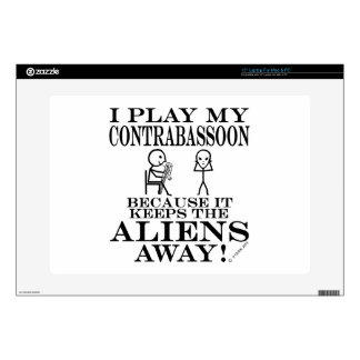 Keeps Aliens Away Contrabassoon Laptop Decal