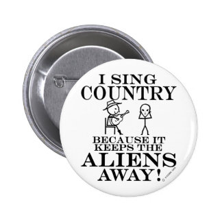 Keeps Aliens Away Country Pinback Button