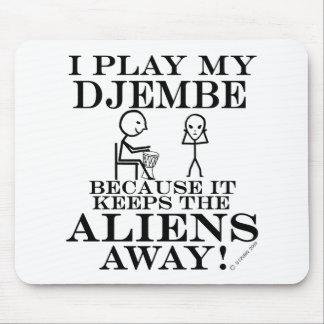 Keeps Aliens Away Djembe Mouse Pad