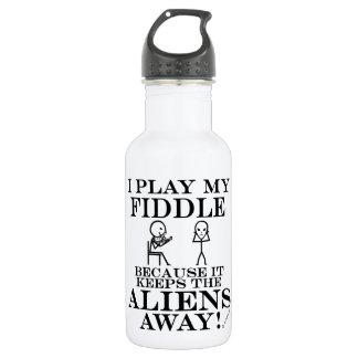 Keeps Aliens Away Fiddle Stainless Steel Water Bottle
