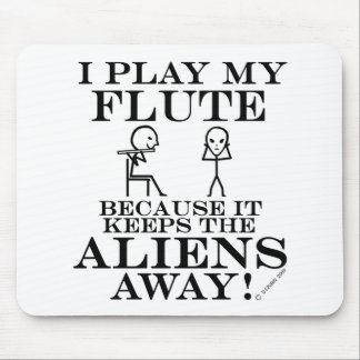 Keeps Aliens Away Flute Mouse Pad