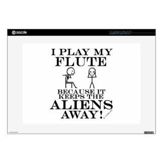 "Keeps Aliens Away Flute 15"" Laptop Skin"