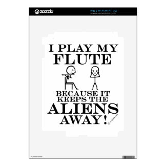 Keeps Aliens Away Flute Skin For The iPad 2