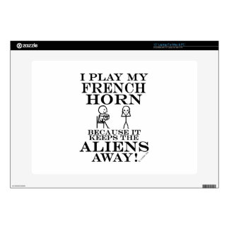 Keeps Aliens Away French Horn Skin For Laptop