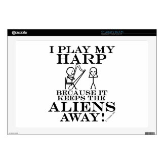 Keeps Aliens Away Harp Skin For Laptop