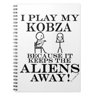 Keeps Aliens Away Kobza Spiral Notebooks