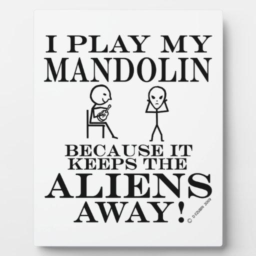 Keeps Aliens Away Mandolin Plaque