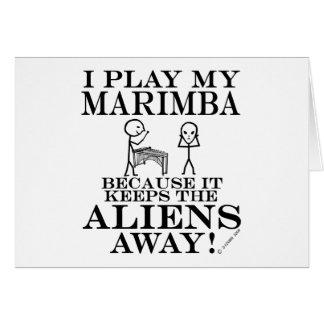 Keeps Aliens Away Marimba Card
