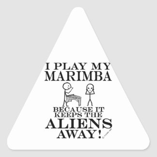 Keeps Aliens Away Marimba Triangle Sticker