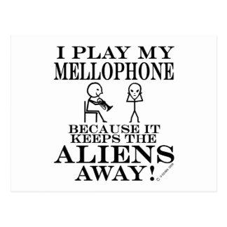 Keeps Aliens Away Mellophone Postcard
