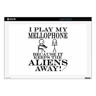 Keeps Aliens Away Mellophone Decals For Laptops