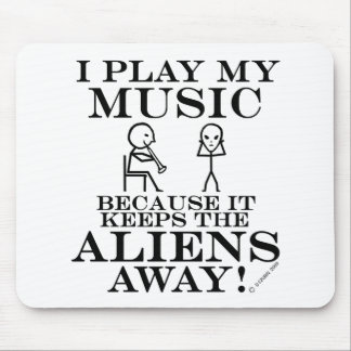 Keeps Aliens Away Music Mouse Pad