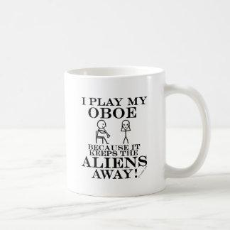 Keeps Aliens Away Oboe Coffee Mug