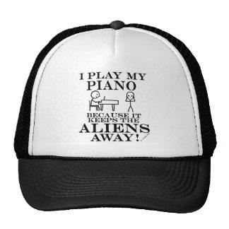 Keeps Aliens Away Piano Mesh Hat