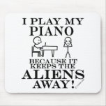 Keeps Aliens Away Piano Mouse Pad