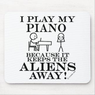 Keeps Aliens Away Piano Mousepads