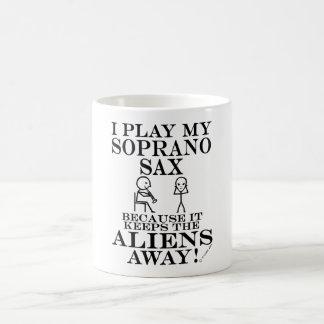 Keeps Aliens Away Soprano Sax Mugs