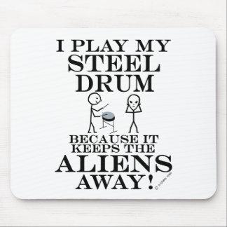 Keeps Aliens Away Steel Drum Mouse Pad