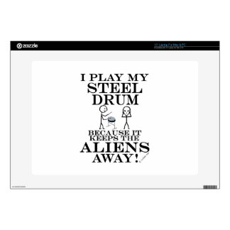 Keeps Aliens Away Steel Drum Laptop Skins