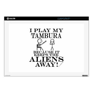 "Keeps Aliens Away Tambura 17"" Laptop Skin"