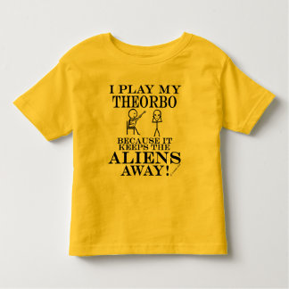 Keeps Aliens Away Theorbo Toddler T-shirt