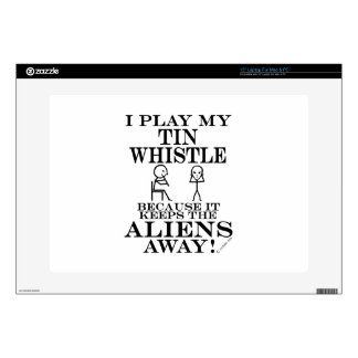 "Keeps Aliens Away Tin Whistle 15"" Laptop Decal"