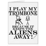 Keeps Aliens Away Trombone Card