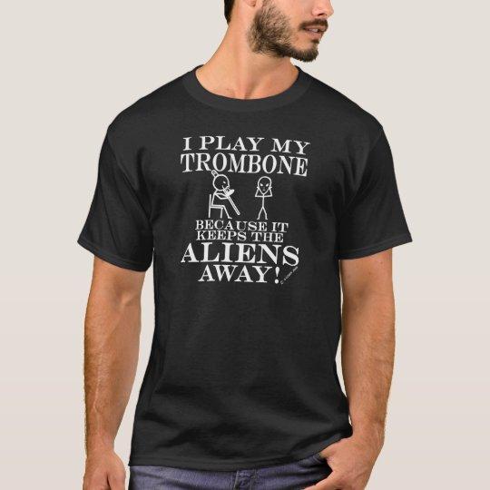 Keeps Aliens Away Trombone T-Shirt