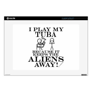 "Keeps Aliens Away Tuba Skins For 15"" Laptops"