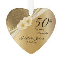 Keepsake 50th Gold Wedding Anniversary Ornament