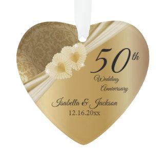 Keepsake 50th 💞 Gold Wedding Anniversary Ornament