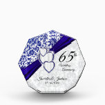 """Keepsake 65th 💞 Sapphire Wedding Anniversary Acrylic Award<br><div class=""""desc"""">⭐⭐⭐⭐⭐ 5 Star Review. PLEASE READ!!! 65th /45th Sapphire Wedding Anniversary Award. ⭐This Product is 100% Customizable. Graphics and text can be deleted, moved, resized, changed around, rotated, etc... 99% of my designs in my store are done in layers. This makes it easy for you to resize and move the...</div>"""