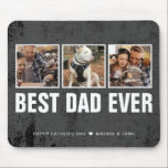 """Keepsake Best Dad Ever Father's Day Photo Collage Mouse Pad<br><div class=""""desc"""">Message me if you need assistance or have any special requests.</div>"""