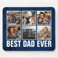 Keepsake Best Dad Ever Father's Day Photo Collage Mouse Pad